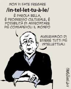 Mix_vignette, Mauro Biani, intellettuale, morte di Tullio De Mauro, manif6gen17